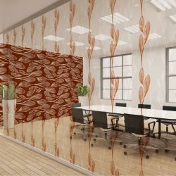 botanical waves concept office glazing wallpaper