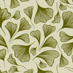botanical waves ginko array olive pistachio