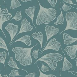 botanical waves ginko array slate fern
