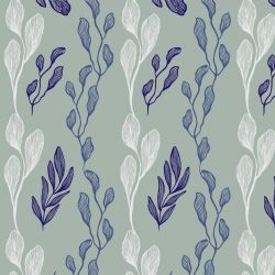 botanical waves leaf assortment fern violet lavender shimmer