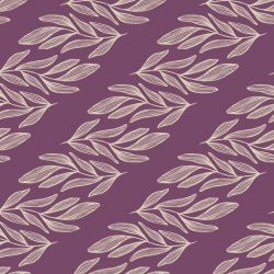 botanical waves willow branch horizontal orchid creme