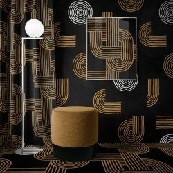 modern glamour concept artwork curtain carpet wallpaper
