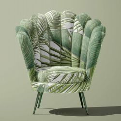 vintage jungle concept chair upholstery
