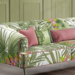 vintage jungle concept upholstery couch