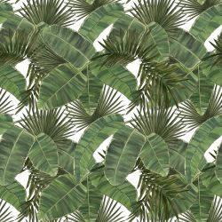 vintage jungle cross leaf