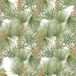 vintage jungle flowering palm