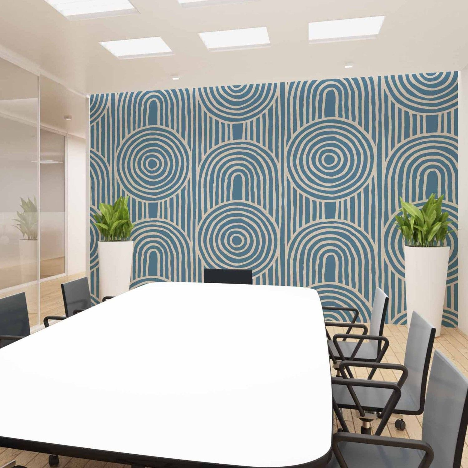 modern glamour concept office wallpaper
