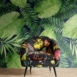 mixed bunch concept armchair wallpaper mural