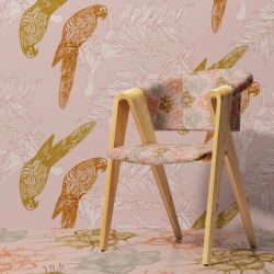 winter garden concept chair upholstery wallpaper carpet