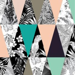 animalplanet tropical leaf patchwork