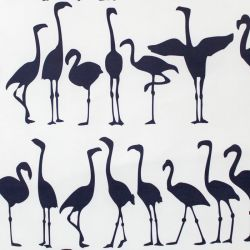 victorialarsondecor flamingo parade navy on white