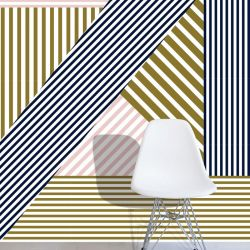 graphic murals lineal retro modern