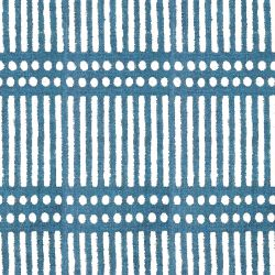 indian block prints dash dot blue
