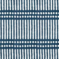 indian block prints dash dot indigo